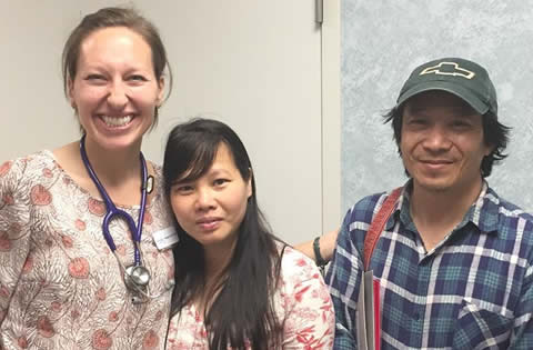 Nurse Midwife & Couple from Vietnam after ultrasound